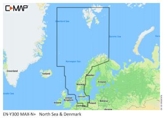 C-MAP MAX-N+ Pohjanmeri ja Tanska (M-EN-Y300)