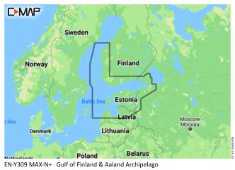 C-MAP MAX-N+ Suomenlahti - Ahvenanmaa - Vaasa (M-EN-Y309)