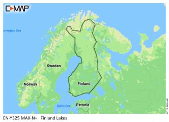 C-MAP MAX-N+ Suomen järvet (M-EN-Y325)