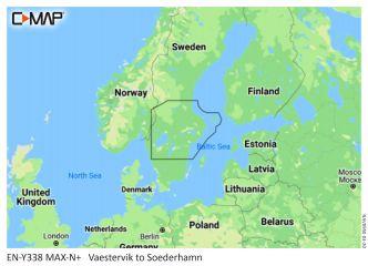 C-MAP MAX-N+ Tukholman ympäristö - Ruotsin järvet (M-EN-Y338)