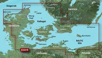 Garmin BlueChart g3 HD, HXEU021R Itä-Tanska ja Kaakkois-Ruotsi