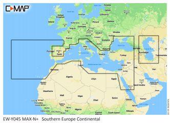 C-MAP MAX-N+ Etelä-Eurooppa Continental (M-EM-Y045)
