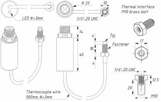 Yacht Devices YDGS-01 pakokaasun lämpöanturi