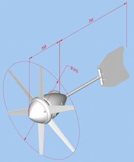Rutland FM910-4 Furlmatic tuuligeneraattori 140 W, 12 V