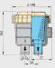 """Vetus suodatin malli 330, letkuliitännät 16 mm (5/8"""")"""