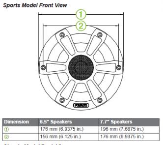 """Fusion FL65SPW 6,5"""" 230 W Signature LED kaiutinpari ESITTELYLAITE"""