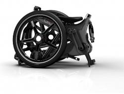 Musta Gocycle kokoontaitettuna