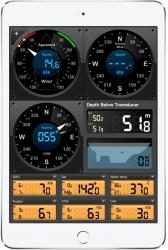 Esimerkki EDO Instruments ohjelmistosta iPadilla