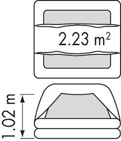 Plastimo Transocean ISO 9650-1 6 hengen kova pakkaus <24h