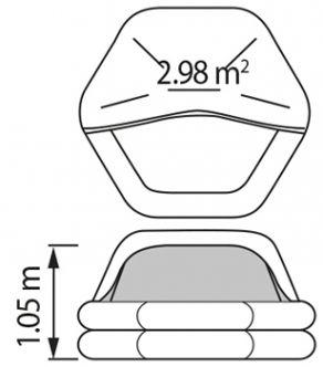 Plastimo Transocean ISO 9650-1 8 hengen kova pakkaus <24h