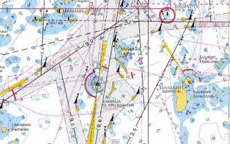 Veneilykartta Helsinki Karhusaari Porkkala, 1:60 000
