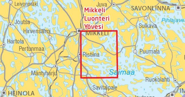 Veneilykartta Mikkeli Luonteri Yovesi 1 60 000 Marinea