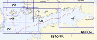Yleismerikartta 950, Suomenlahti - Saaristomeri 1:250 000