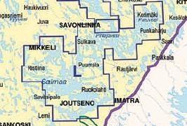 Vektorikartat Saimaan vesistö, Savonlinna - Lappeenranta (L peitto)  Iso Loistoon