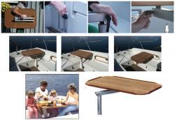 Lagun Rimini 600 Pöytä - 85 x 54 cm tiikkijäljitelmä