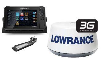 Lowrance HDS-9 LIVE Active Imaging 3-IN-1 anturilla ja 3G tutkalla