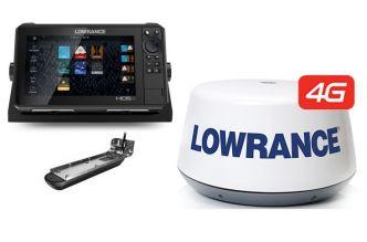 Lowrance HDS-9 LIVE Active Imaging 3-IN-1 anturilla ja 4G tutkalla