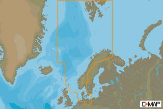 C-MAP MAX-N Pohjanmeri ja Tanska (M-EN-N300)