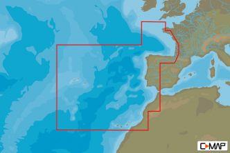 C-MAP MAX-N Länsi-Euroopan rannikko (M-EN-N228)