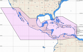 C-MAP REVEAL Central America and Caribbean (M-NA-Y205-MS)