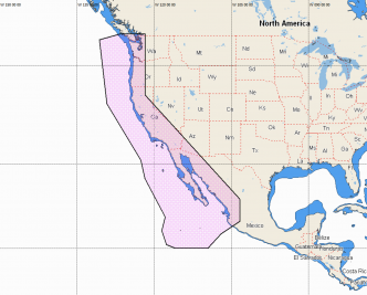 C-MAP REVEAL US West Coast and Baja California (M-NA-Y206-MS)