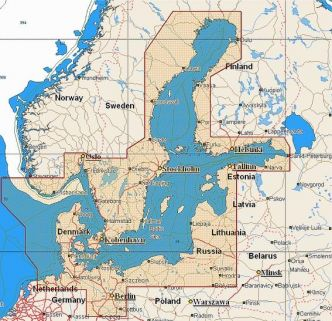 C-MAP MAX (EN-M299) Itämeri ja Tanska (C-Card) aineisto 10/2017