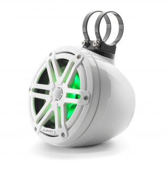 """JL Audio 6.5"""" koteloitu M3-650VeX™ valkoinen kaiutinpari LED-valaistuksella"""
