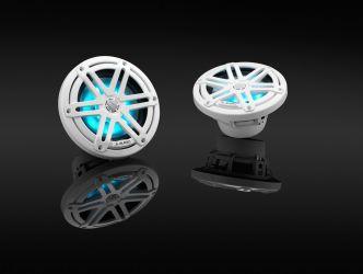 """JL Audio 6.5"""" M3-650x kaiutinpari valkoisella Sport-ritilällä ja RGB LED-valolla"""