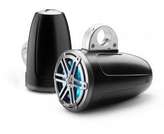 """JL Audio 7.7"""" koteloitu M3-770ETXv3 musta kaiutinpari Sport-ritilällä ja LED-valaistuksella"""