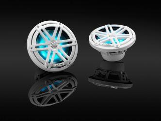 """JL Audio 7.7"""" M3-770x kaiutinpari valkoisella Sport-ritilällä ja RGB LED-valolla"""