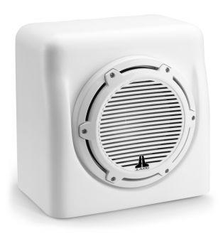 "JL Audio 10"" koteloitu M6-10W Subwoofer, valkoinen"