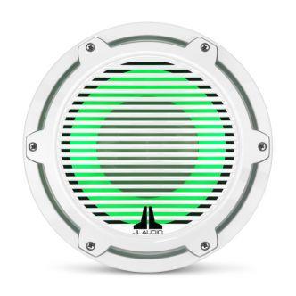 """JL Audio 10"""" M6-10W Subwoofer valkoisella Classic-ritilällä sekä LED-valaistuksella"""