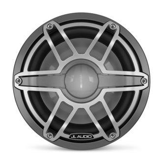 """JL Audio 10"""" M6-10W Subwoofer titaaninvärisellä Sport-ritilällä ja aseharmaalla rungolla"""