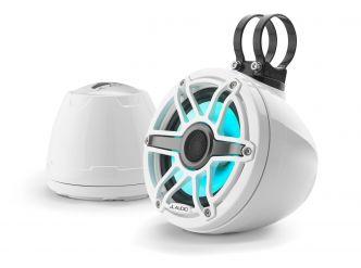 """JL Audio 6.5"""" koteloitu M6-650VeX™ valkoinen kaiutinpari LED-valaistuksella"""