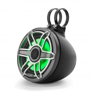 "JL Audio 6.5"" koteloitu M6-650VeX™ musta kaiutinpari LED-valaistuksella"