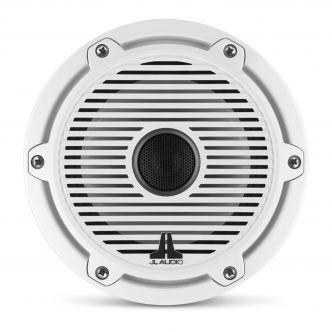"""JL Audio 6.5"""" M6-650x kaiutinpari valkoisella Classic-ritilällä ja rungolla"""