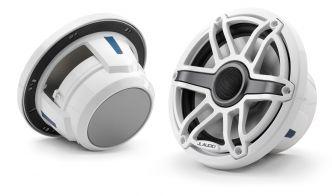 """JL Audio 7.7"""" M6-770x kaiutinpari valkoisella Sport-ritilällä ja rungolla"""