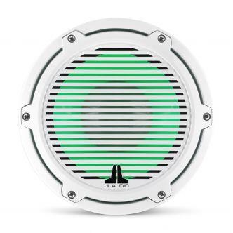 """JL Audio 8"""" M6-8IB Subwoofer valkoisella Classic-ritilällä sekä LED-valaistuksella"""