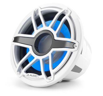 """JL Audio 12"""" M7-12IB Subwoofer valkoisella Sport-ritilällä sekä LED-valaistuksella"""