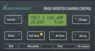 Mastervolt MasterLink MICC näyttöpaneeli/akkumonitori