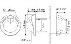 Plastimo Mini-Contest kompassi valkoinen