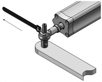 Hy-ProDrive ML+40-8 hydraulinen työntövarsi 350 kg, 12 V