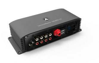 """JL Audio MediaMaster® 80-HR """"Black Box"""" äänilähde 4 x 30 W päätevahvistimella"""