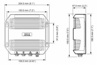 Simrad/B&G NAC-2 autopilotin keskusyksikkö