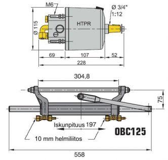 Vetus hydrauliohjaus perämoottoreille 125 hv asti