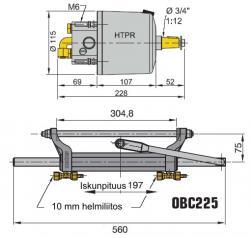 Vetus hydrauliohjaus perämoottoreille 225 hv asti