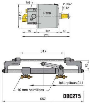 Vetus hydrauliohjaus perämoottoreille 275 hv asti