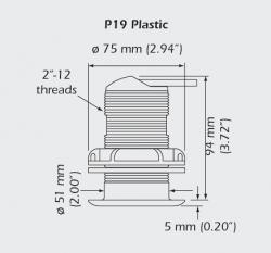 P19 anturin mittakuva