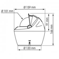 Asennusmitat lisävarusteena saatavilla olevan pedestaali asennuskauluksen kanssa
