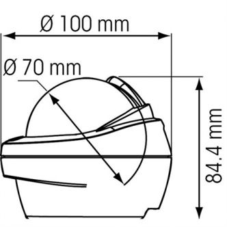 Plastimo Offshore 75 Pedistal kompassi, musta
